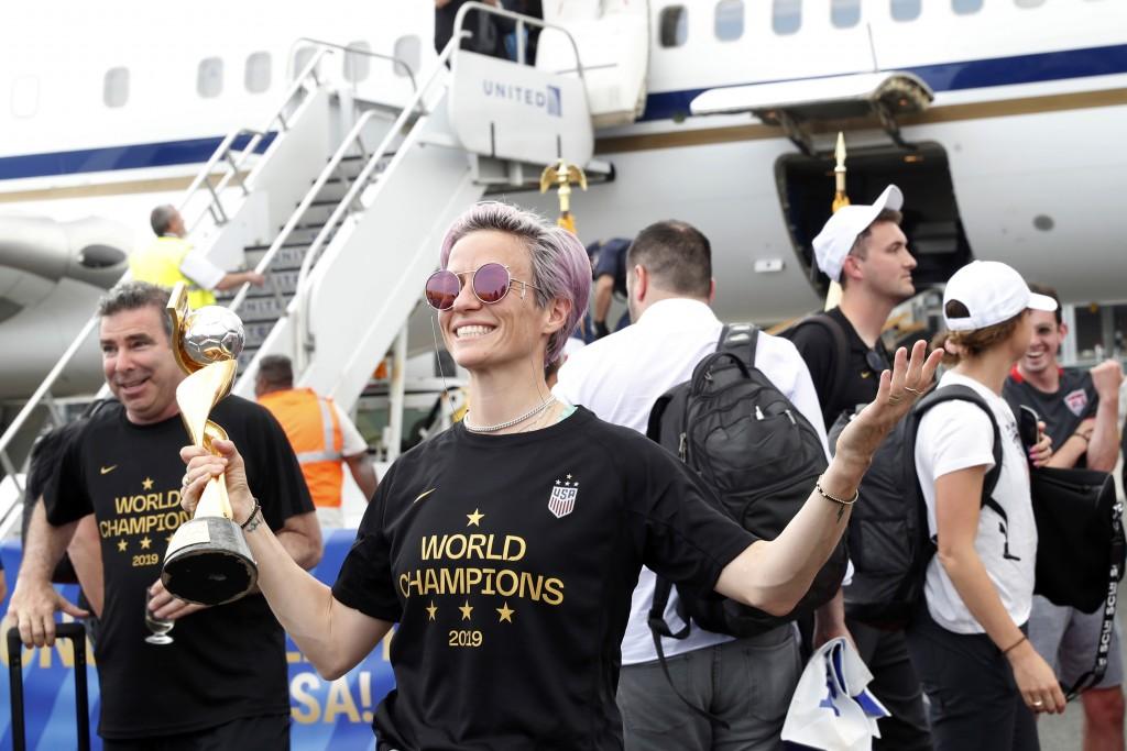 United States women's soccer team member Megan Rap...
