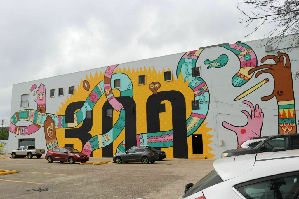 This mural celebrating New Orleans' tricentennial ...