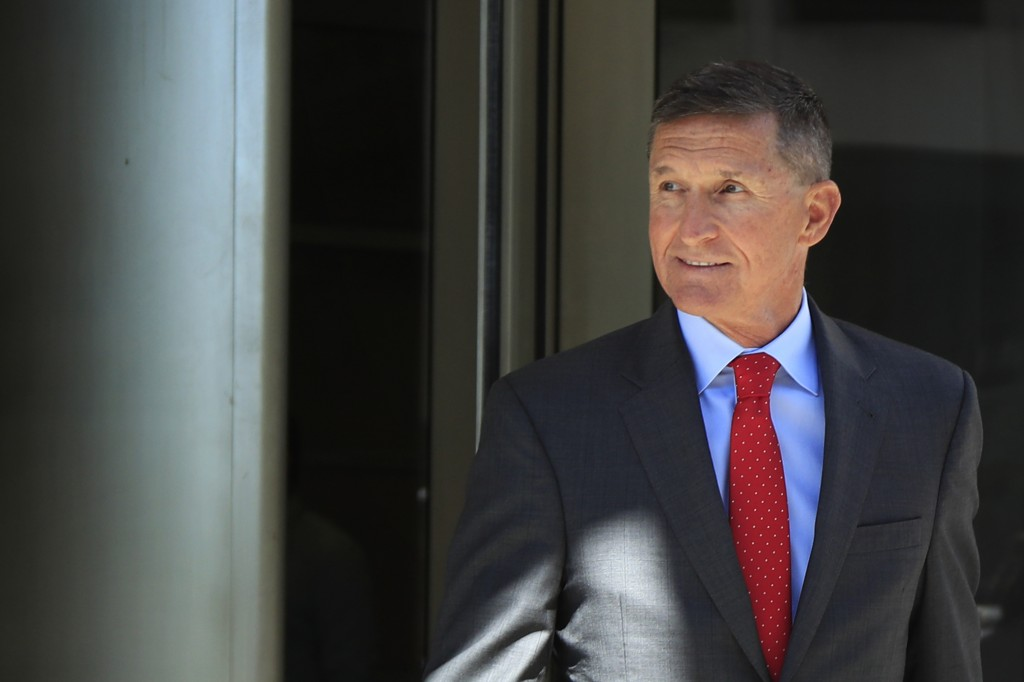 FILE - In this July 10, 2018, file photo, former Trump national security adviser Michael Flynn leaves the federal courthouse in Washington, following