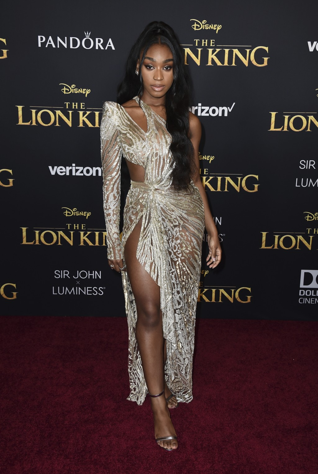 """Normani arrives at the world premiere of """"The Lion..."""