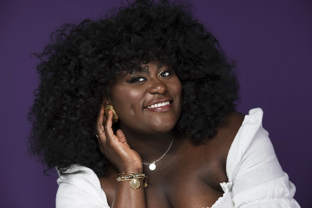 """This June 14, 2019 photo shows actress Danielle Brooks posing for a portrait in New York to promote the 7th season of """"Orange is the New Black."""" The f"""
