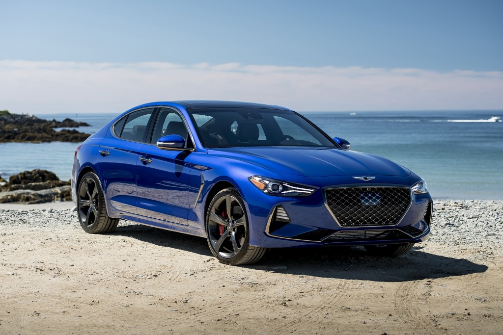 This undated photo provided by Hyundai shows the 2019 Genesis G70, a small, sporty sedan from Hyundai's upstart luxury brand. It's more than just a re