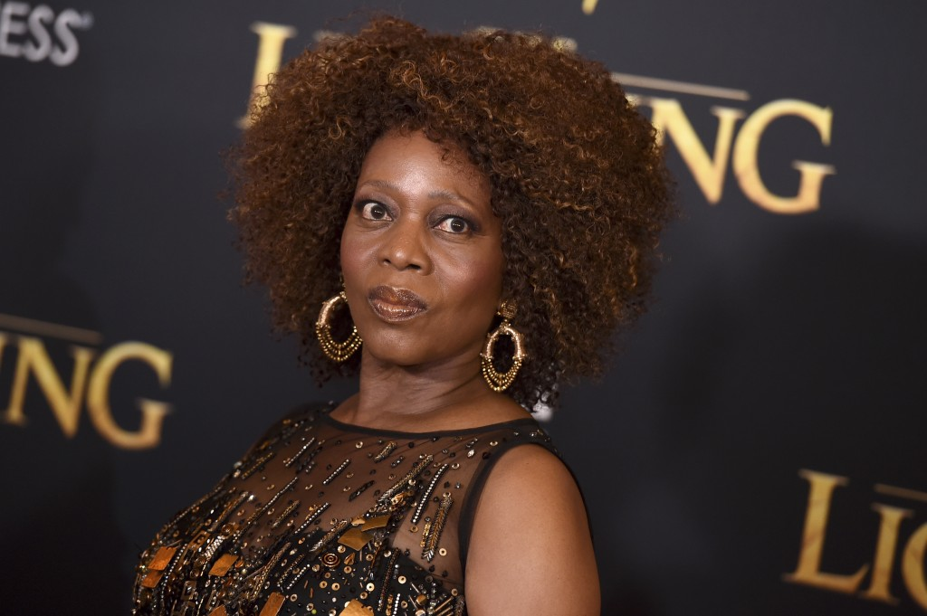 """Alfre Woodard arrives at the world premiere of """"The Lion King"""" on Tuesday, July 9, 2019, at the Dolby Theatre in Los Angeles. (Photo by Jordan Strauss"""