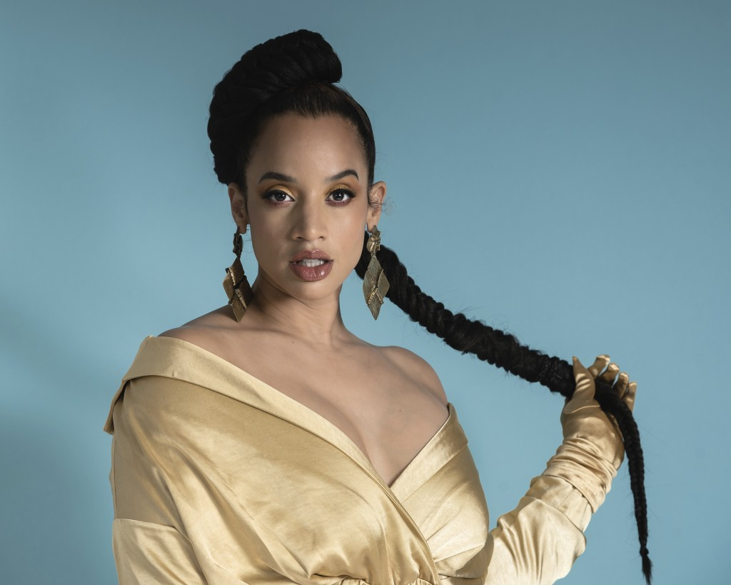 """This July 1, 2019 photo shows actress Dascha Polanco posing for a portrait in New York to promote the 7th season of """"Orange is the New Black."""" The fin"""
