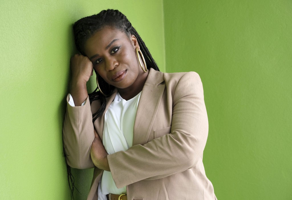 """This May 22, 2019 photo shows actress Uzo Aduba posing for a portrait in Los Angeles to promote the final season of """"Orange is the New Black."""" The fin"""