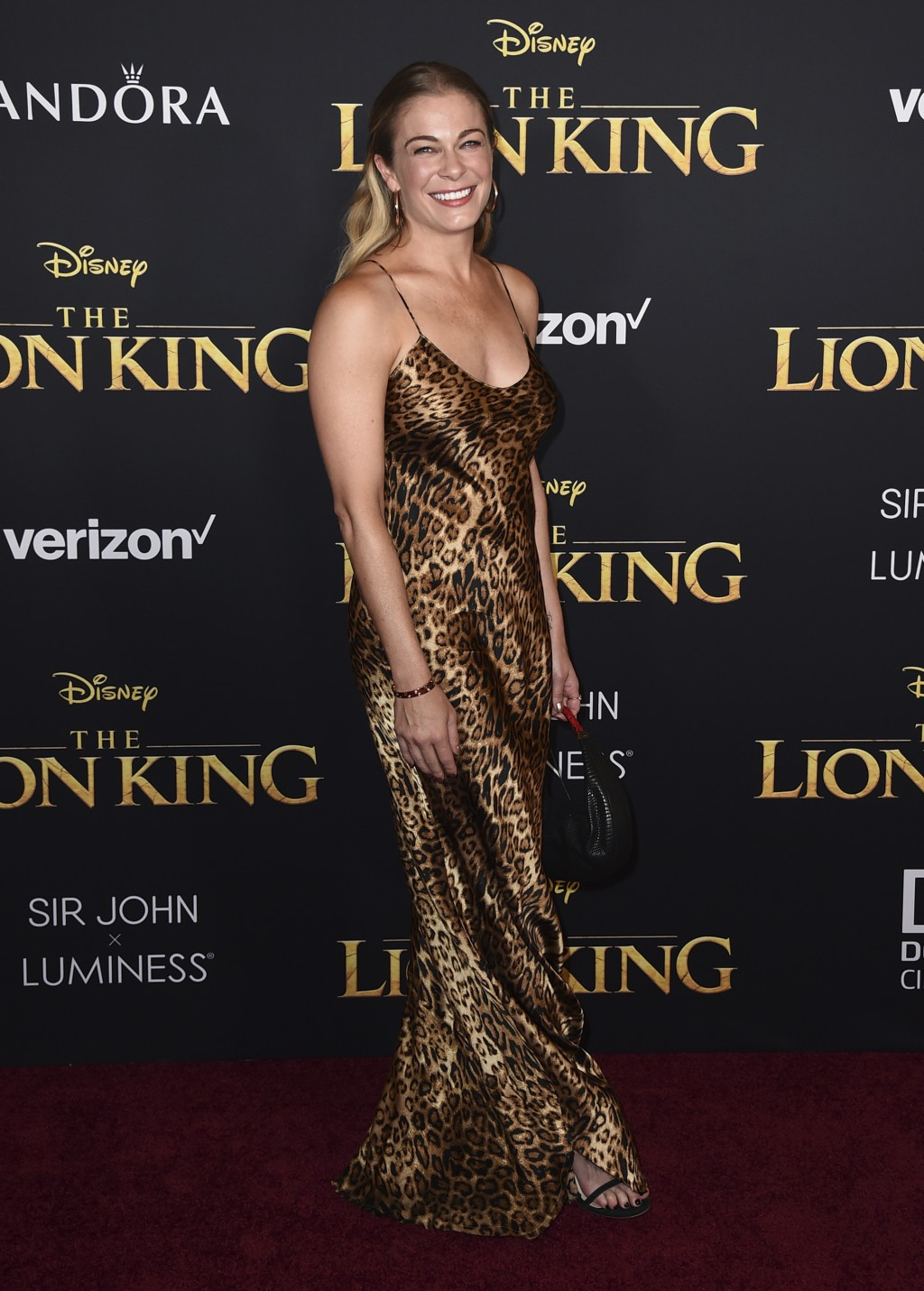 """LeAnn Rimes arrives at the world premiere of """"The Lion King"""" on Tuesday, July 9, 2019, at the Dolby Theatre in Los Angeles. (Photo by Jordan Strauss/I"""