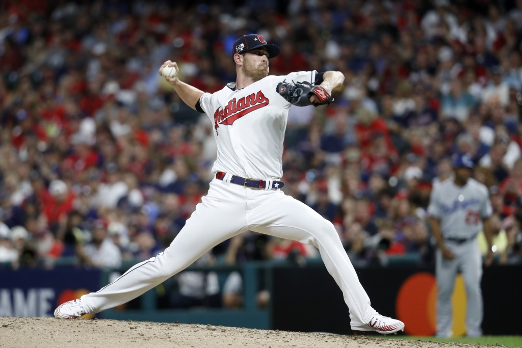 American League pitcher Shane Bieber, of the Cleveland Indians, throws during the fifth inning of the MLB baseball All-Star Game against the National