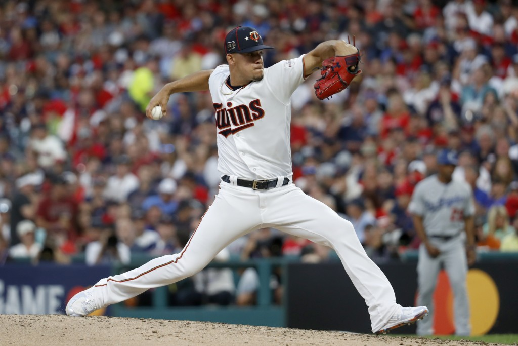 American League pitcher Jose Berrios, of the Minne...