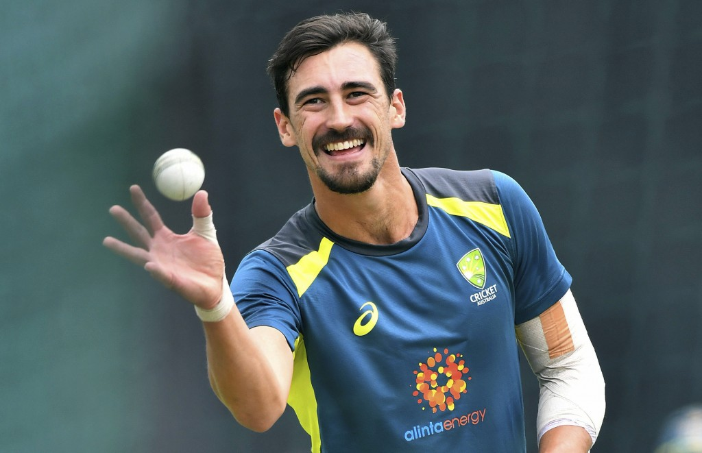 Australia's Mitchell Starc during the nets session at Edgbaston in Birmingham, England, Tuesday July 9, 2019.  Australia play England in their ODI Cri