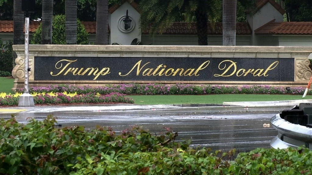 FILE - This June 2, 2017 file frame from video shows the Trump National Doral in Doral, Fla. President Donald Trump's golf resort near Miami is hostin