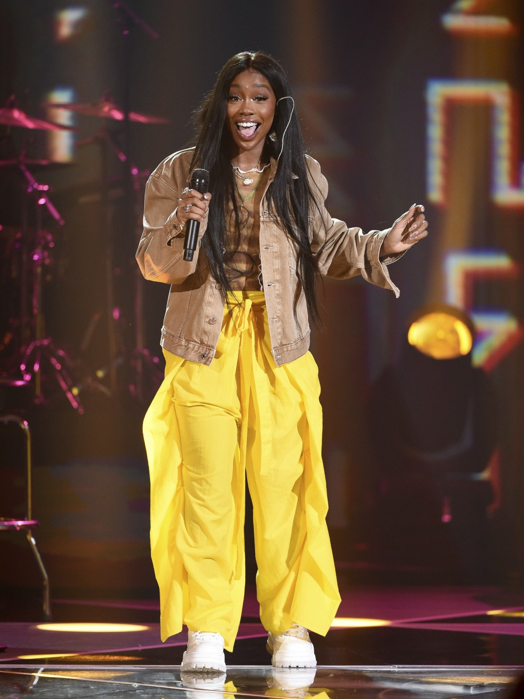 Singer SZA performs at Amazon Music's Prime Day concert at the Hammerstein Ballroom on Wednesday, July 10, 2019, in New York. (Photo by Evan Agostini/...