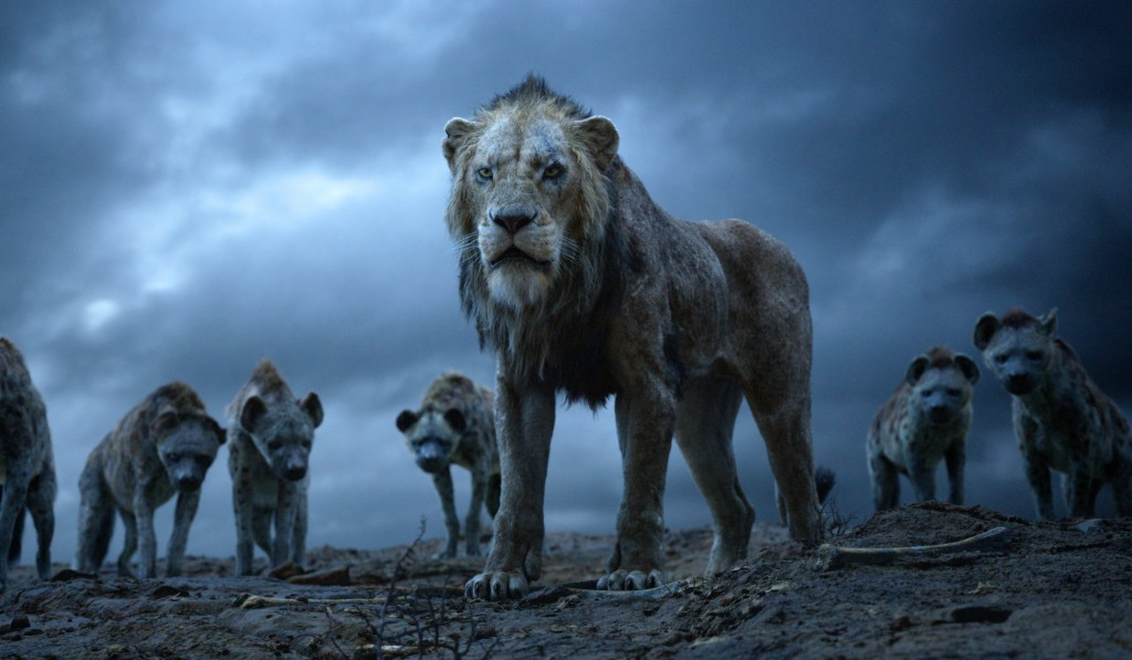 """This image released by Disney shows Scar, voiced by Chiwetel Ejiofor, in a scene from """"The Lion King.""""  (Disney via AP)"""