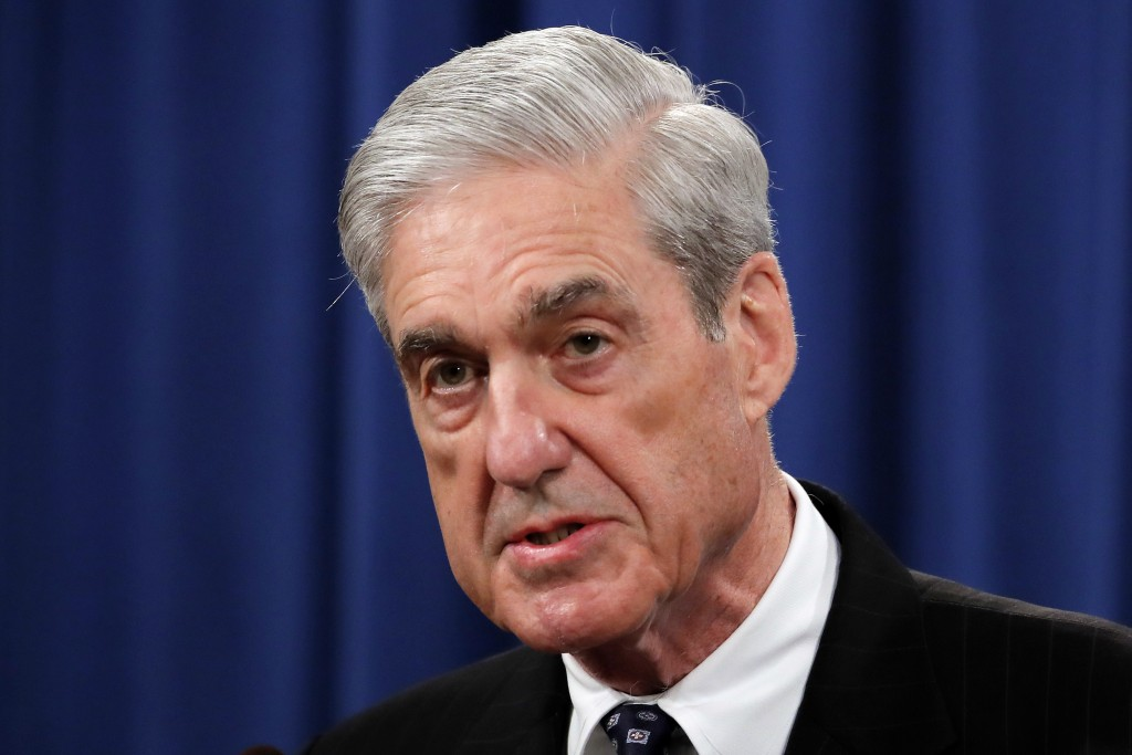 FILE - In this May 29, 2019, file photo, Special counsel Robert Mueller speaks at the Department of Justice in Washington, about the Russia investigat...