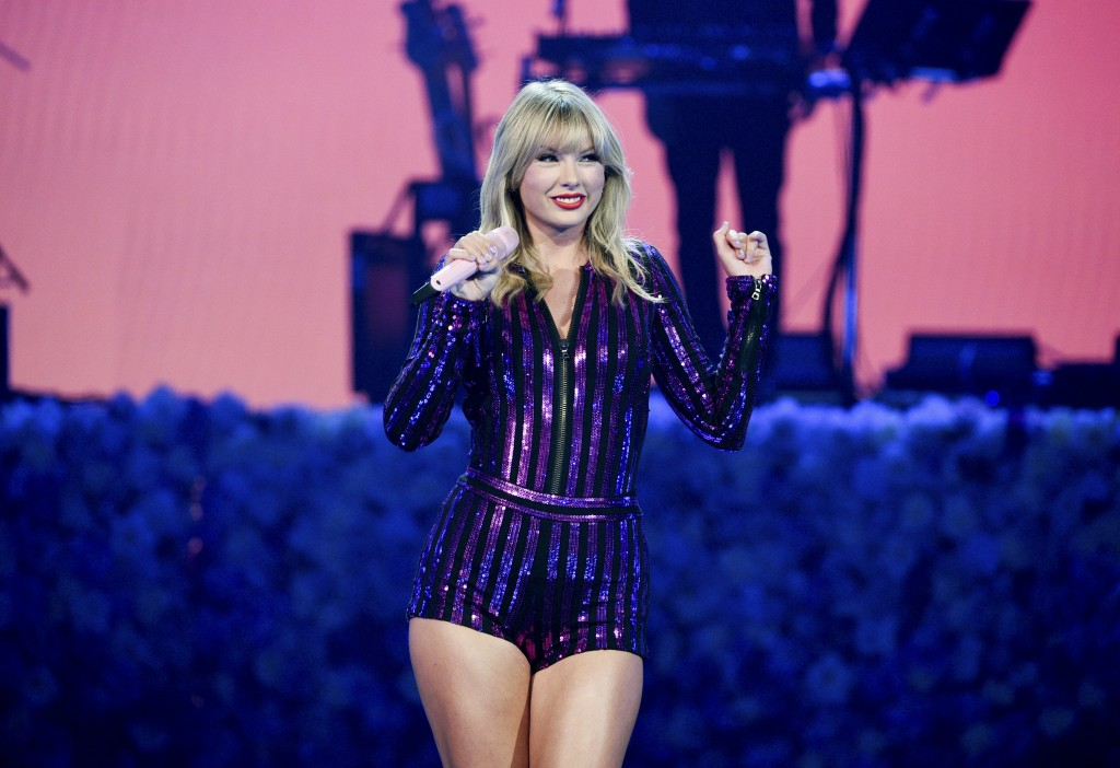 Singer Taylor Swift performs at Amazon Music's Prime Day concert at the Hammerstein Ballroom on Wednesday, July 10, 2019, in New York. (Photo by Evan