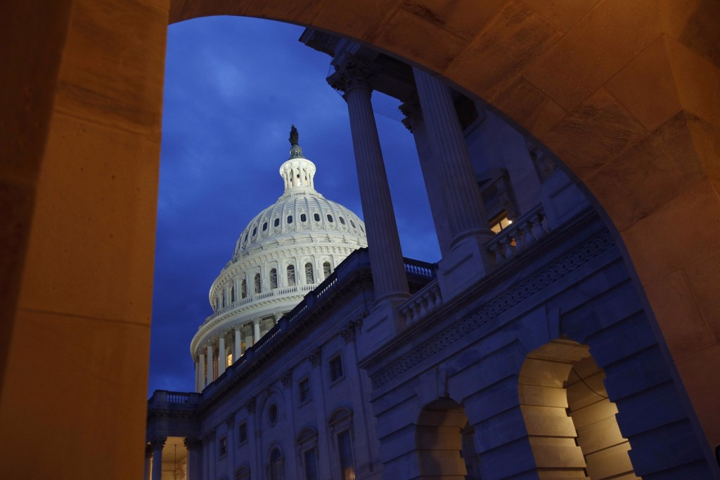 FILE - This June 12, 2019, file photo shows the U.S. Capitol dome on Capitol Hill in Washington. On Thursday, July 11, the Treasury Department release...