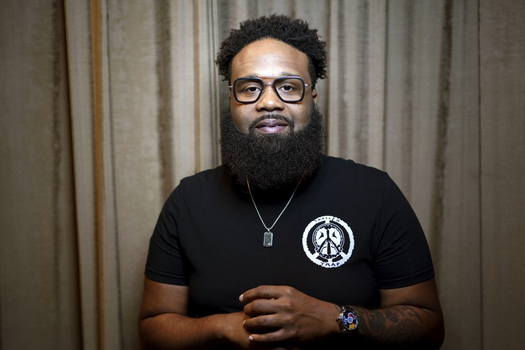 This July 5, 2019 photo shows Blanco Brown during a photo session in Nashville, Tenn. Brown, who is signed to a Nashville record label, has been mixin