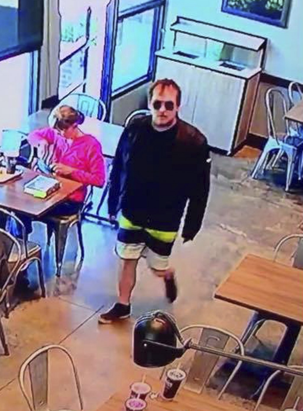 This photo from video provided by the San Luis Obispo, Calif., Police Department and posted on their Facebook page Wednesday, July 10, 2019, shows a p