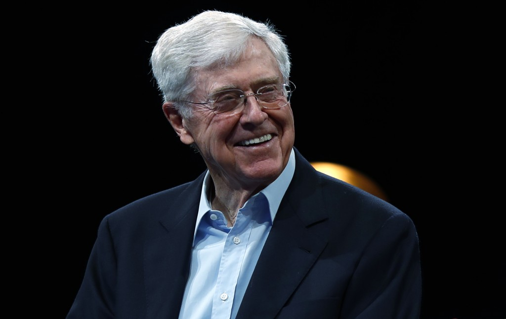 FILE - This June 29, 2019, file photo show Charles Koch, chief executive officer of Koch Industries, at The Broadmoor Resort in Colorado Springs, Colo