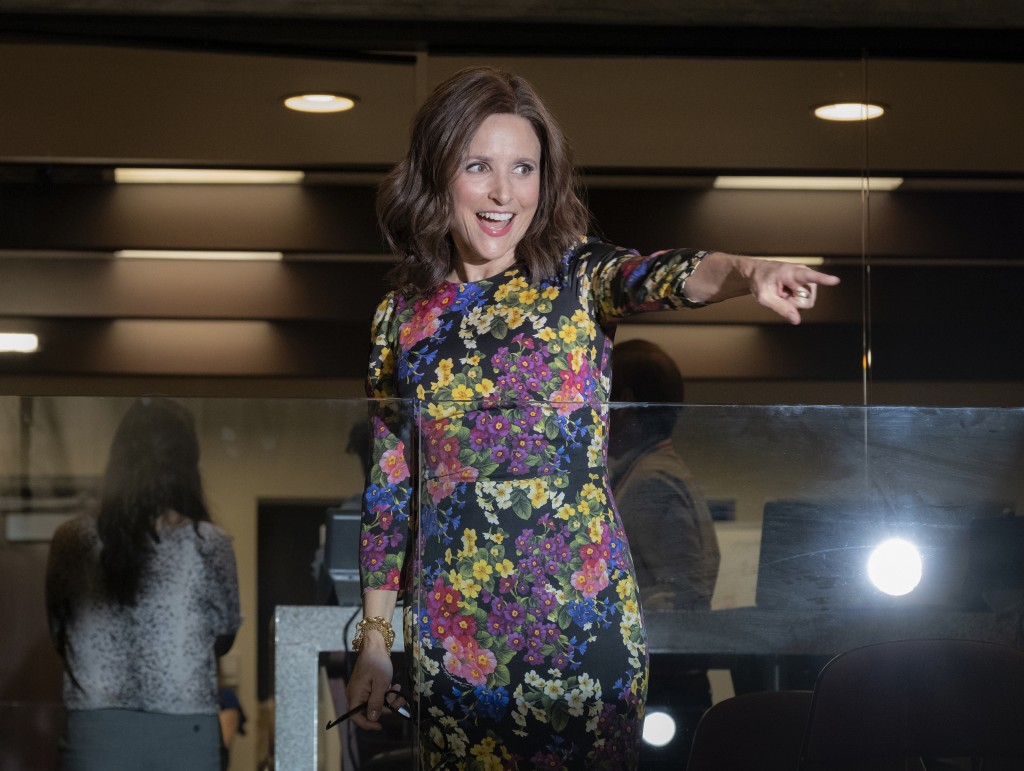 This image released by HBO shows Julia Louis-Dreyf...