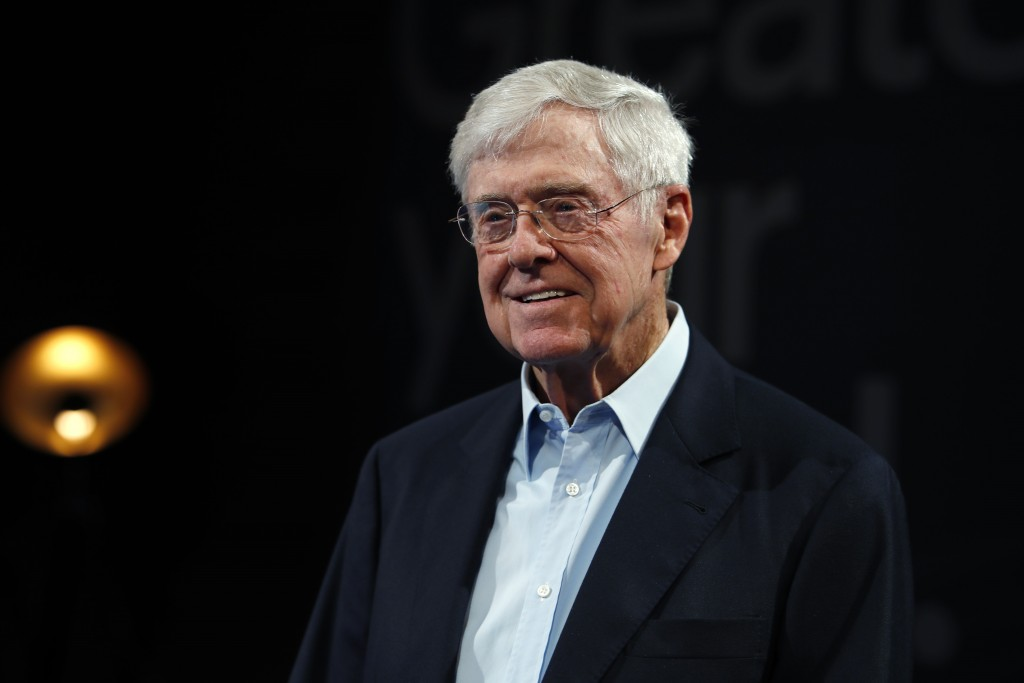 FILE - This June 29, 2019, file photo show Charles Koch, chief executive officer of Koch Industries, at The Broadmoor Resort in Colorado Springs, Colo...