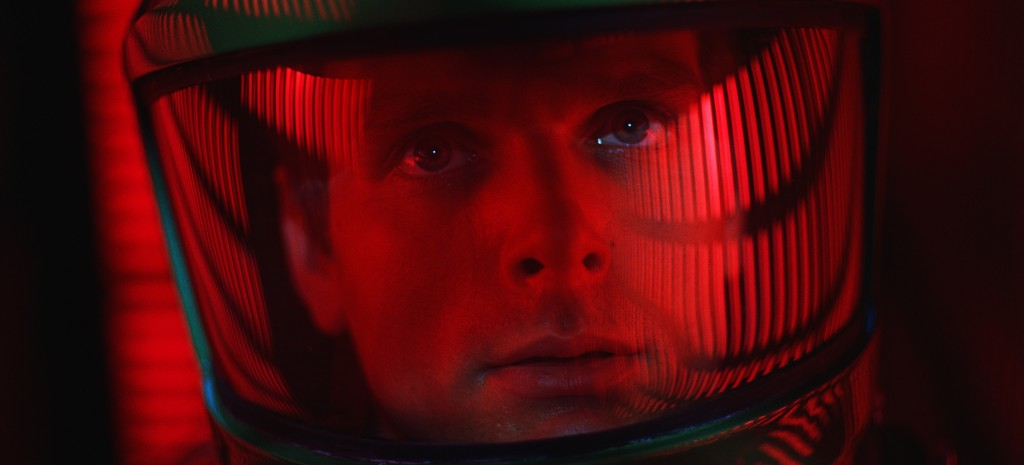 """This image released by Warner Bros. Pictures shows Keir Dullea in a scene from the 1968 film, """"2001: A Space Odyssey."""" Space exploration was then an e"""
