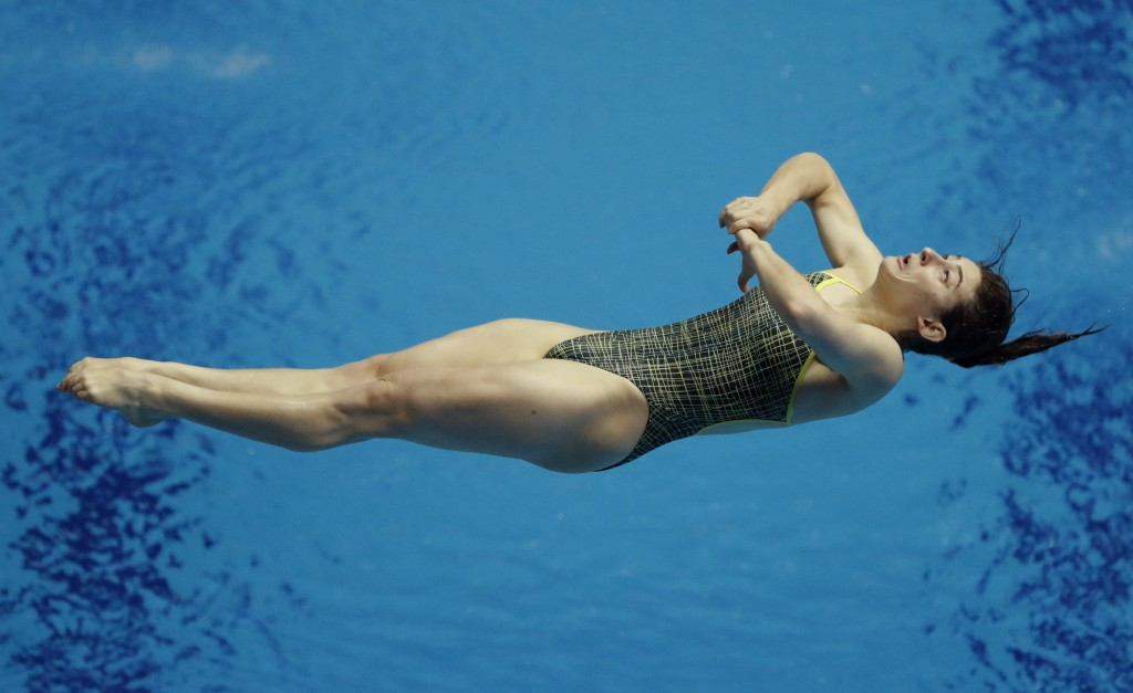 Australia's Maddison Keeney competes in the women's 3m springboard divin final at the World Swimming Championships in Gwangju, South Korea, Friday, Ju...