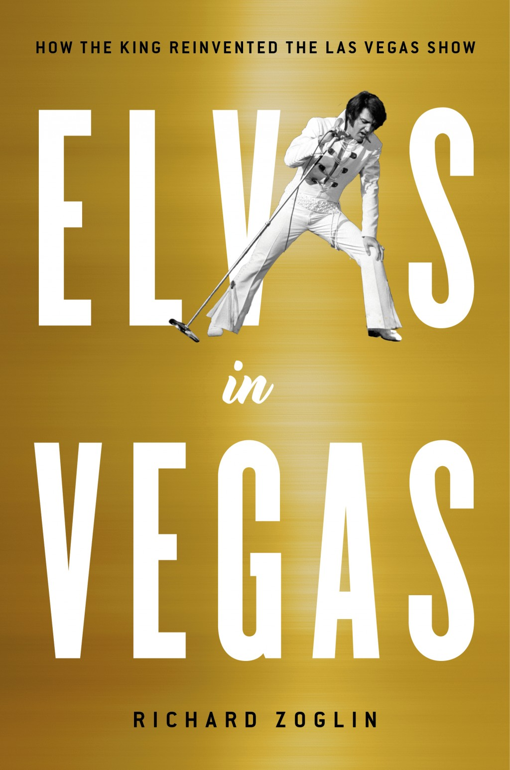 """This cover image released by Simon & Schuster shows """"Elvis in Vegas: How the King Reinvented the Las Vegas Show,"""" by Richard Zoglin. (Simon & Schuster..."""