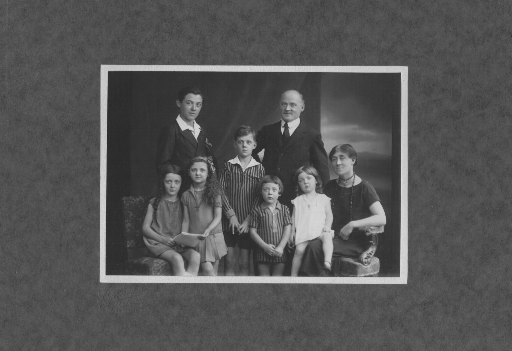 French protestant pastor Raymond Ducasse, right back, poses with his family, including his eldest son Robert, left back, in a photo believed to have b...