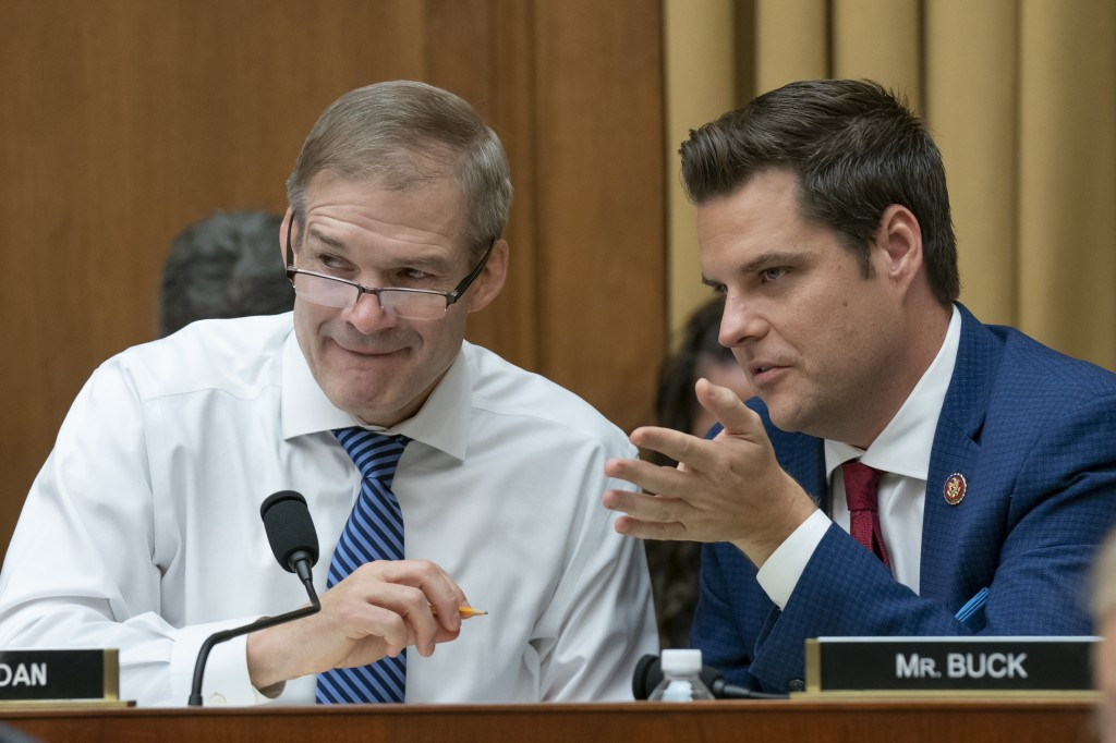 Congressman Matt Gaetz (right) introduces No CHINA Act.