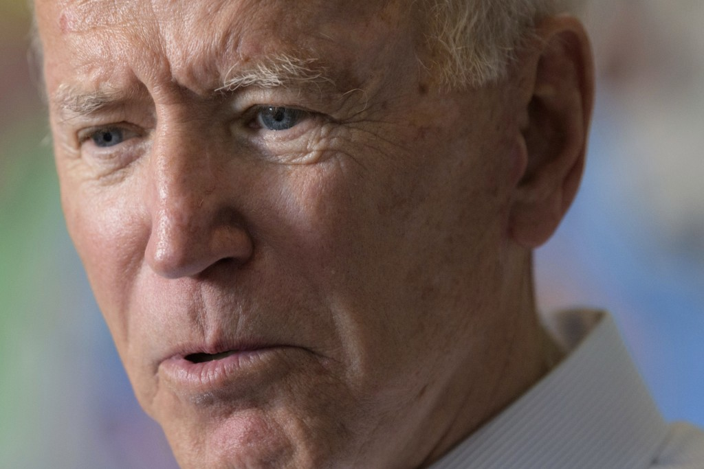 In this July 23, 2019, photo, Democratic presidential candidate former Vice President Joe Biden speaks in New Orleans. Biden is placing a big bet that...