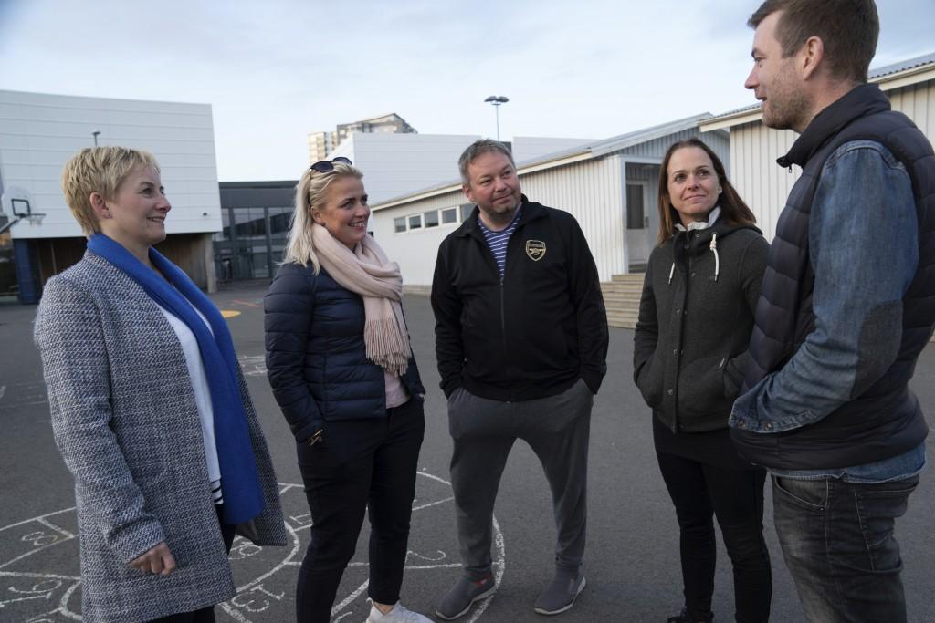 This photo taken Friday 15, June, 2019 shows Linda Hilmarsdottir, Josep Gunnarsson, Marta Sigurjonsdottir, Heidar Atlason, Elsba Danjalsdottir who are