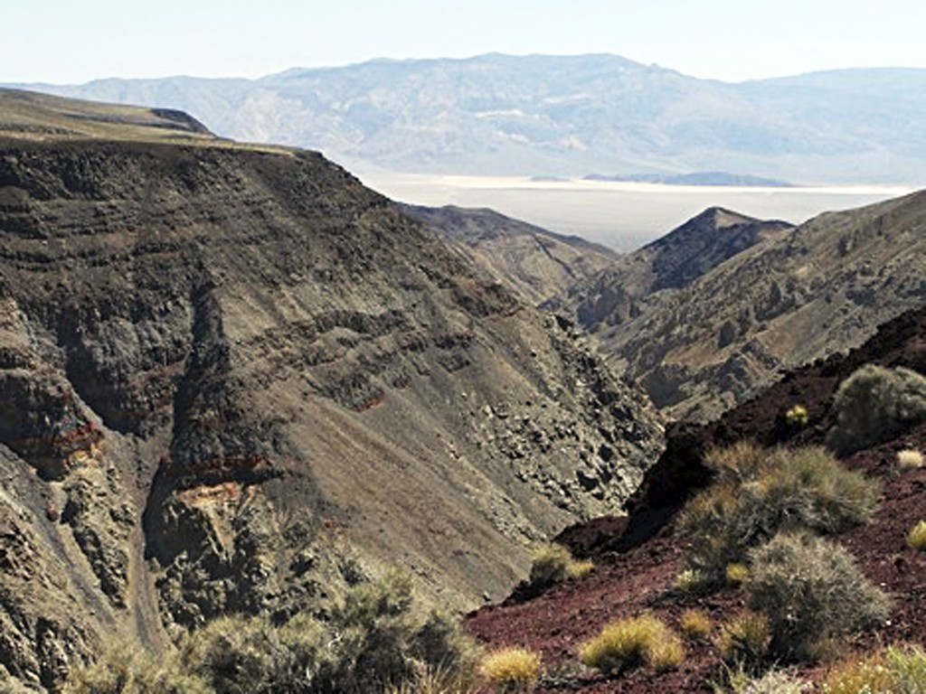 This undated photo provided by the National Park Service shows Rainbow Canyon, also commonly known as Star Wars Canyon, within Death Valley National P