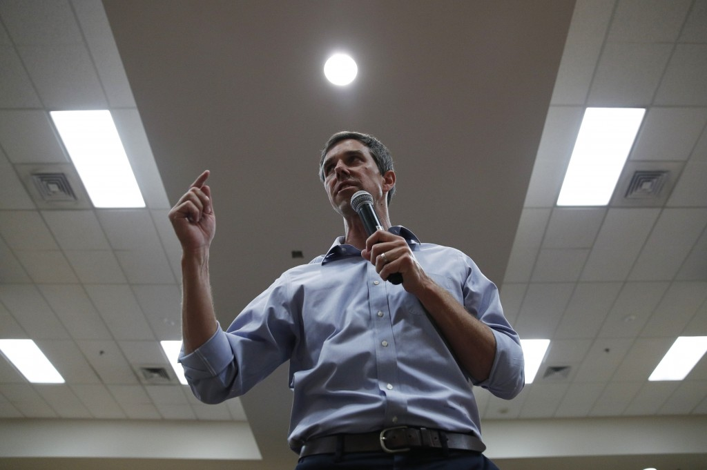 Democratic presidential candidate and former Texas U.S. Rep. Beto O'Rourke speaks at a campaign event, Thursday, Aug. 1, 2019, in Las Vegas. (AP Photo...