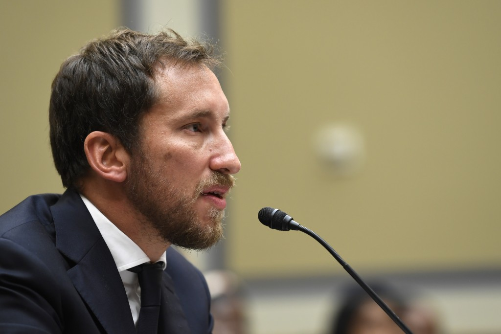 FILE - In this July 25, 2019, file photo, JUUL Labs co-founder and Chief Product Officer James Monsees testifies before a House Oversight and Governme