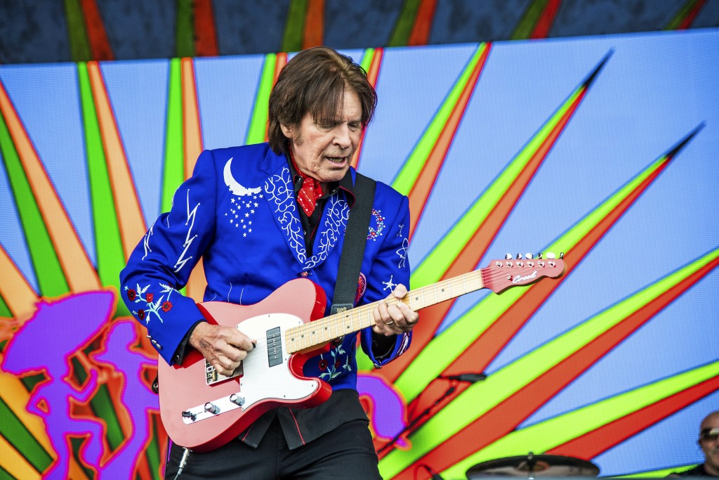 FILE - In this Sunday, May 5, 2019, file photo, John Fogerty performs at the New Orleans Jazz and Heritage Festival in New Orleans. The original locat...