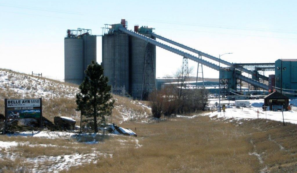 FILE - In a Jan. 21, 2016, file photo, the Belle Ayr Mine stands near Gillette, Wyo. Contura Energy has made a successful bid at auction of $33.75 mil...
