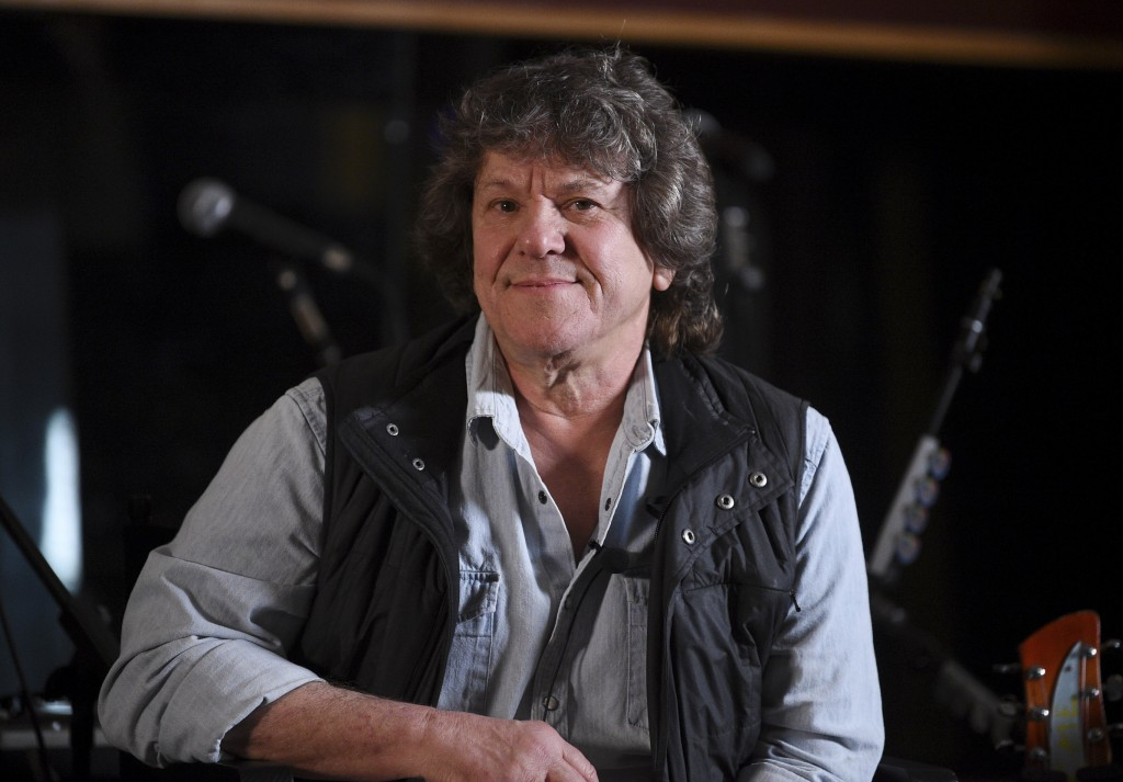 FILE - In this March 19, 2019, file photo, Woodstock co-producer and co-founder, Michael Lang, participates in the Woodstock 50 lineup announcement at