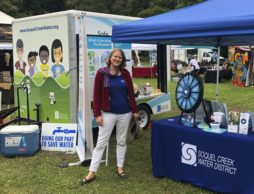 This July 4, 2019 photo provided by the Soquel Creek Water District shows Vaidehi Williams in Aptos, Calif.  She was one of the 34 people aboard who p...