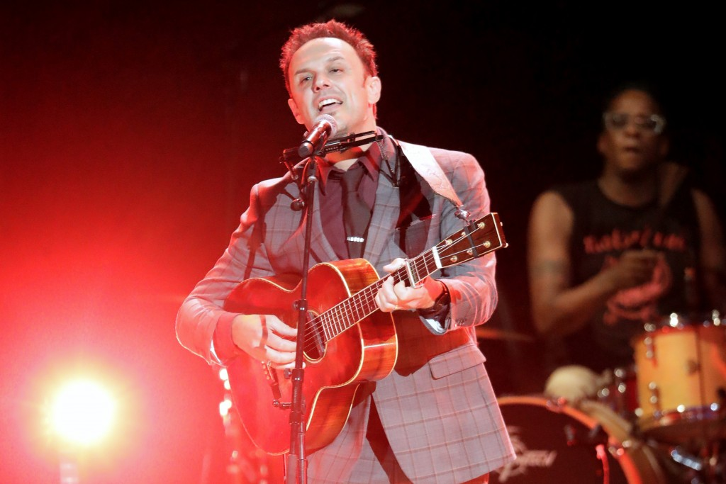Mark Erelli performs during the Americana Honors & Awards show Wednesday, Sept. 11, 2019, in Nashville, Tenn. (AP Photo/Wade Payne)