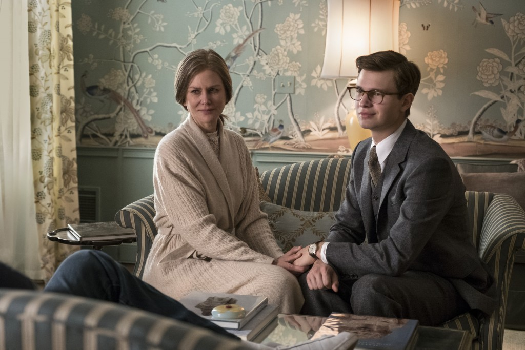 """This image released by Warner Bros. Pictures shows Nicole Kidman, left, and Ansel Elgort in a scene from """"The Goldfinch,"""" in theaters on Sept. 13. (Ni..."""
