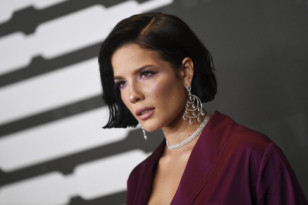 Singer Halsey attends the Spring/Summer 2020 Savage X Fenty show, presented by Amazon Prime, at the Barclays Center on Tuesday, Sept, 10, 2019, in New...