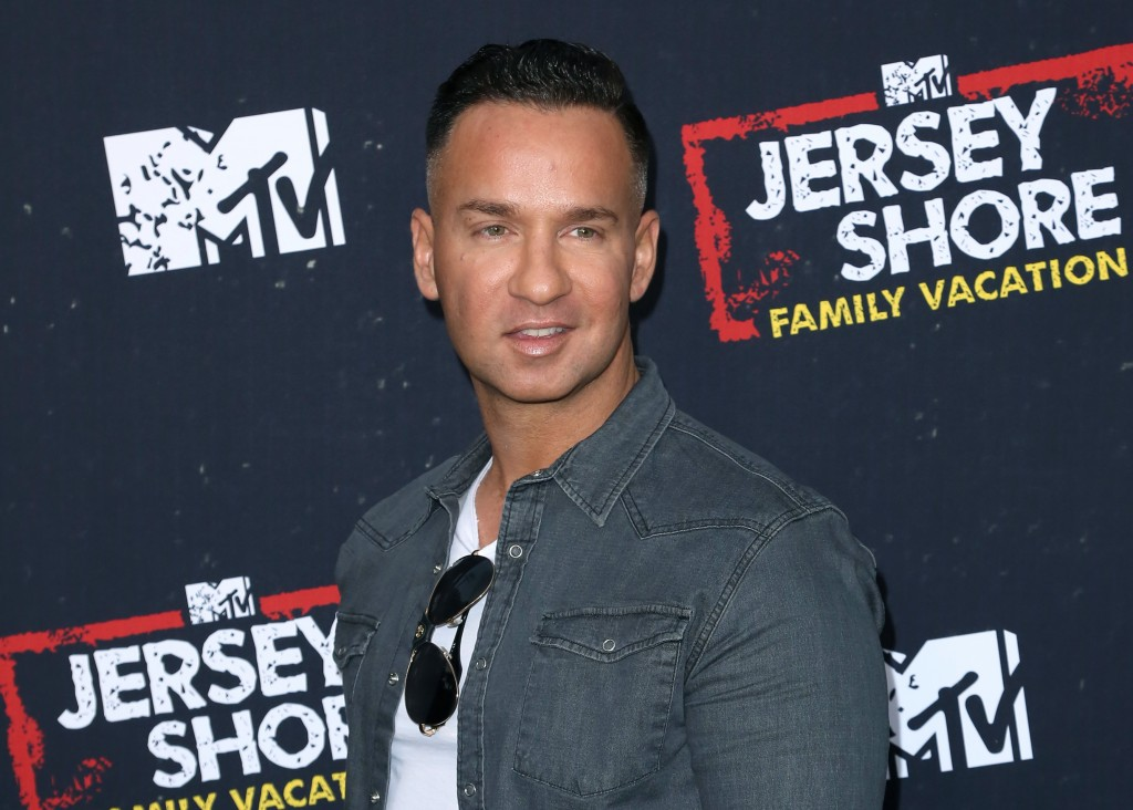 "FILE - In this March 29, 2018 file photo, Mike ""The Situation"" Sorrentino arrives at the ""Jersey Shore Family Vacation"" premiere in Los Angeles. Sorre"