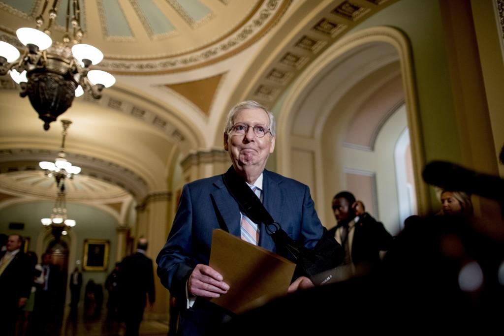 In this Sept. 10, 2019, photo, Senate Majority Lea...