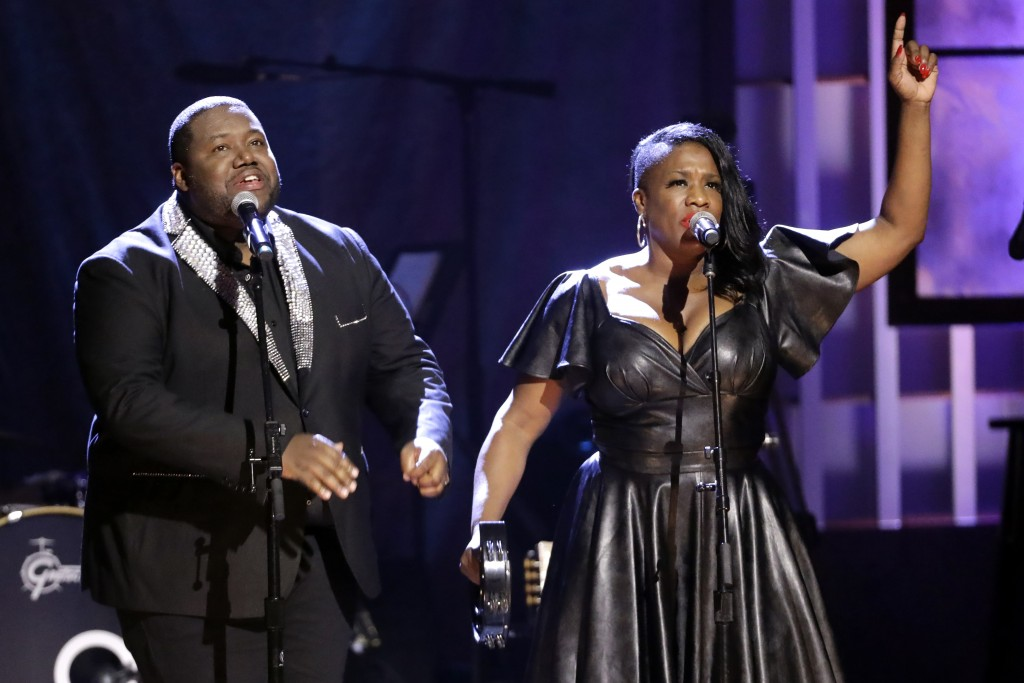 Michael and Tanya Trotter, of the duo The War and Treaty, perform during the Americana Honors & Awards show Wednesday, Sept. 11, 2019, in Nashville, T...