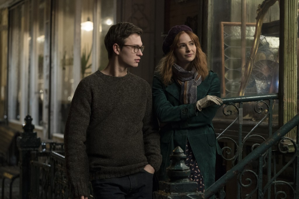 "This image released by Warner Bros. Pictures shows Ansel Elgort, left, and Ashleigh Cummings in a scene from ""The Goldfinch,"" in theaters on Sept. 13."