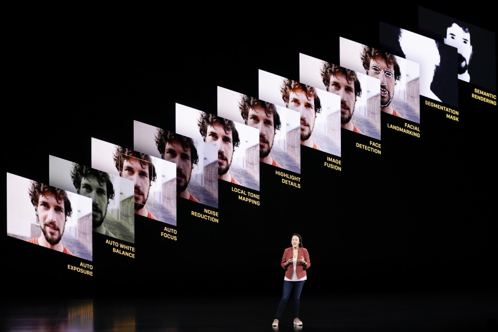 Kaiann Drance, Senior Director, Product Marketing, for the iPhone talks during an event to announce new products Tuesday, Sept. 10, 2019, in Cupertino