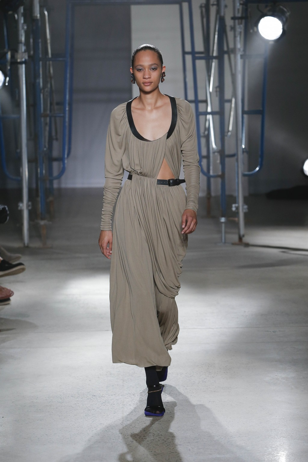 This Sept. 10, 2019 photo released by Proenza Schouler shows a model wearing clothing from their Spring/Summer 2020 collection during Fashion Week in