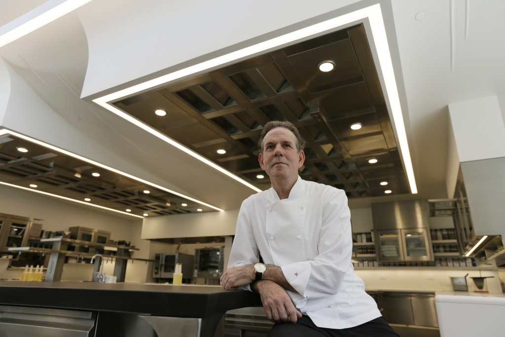 FILE - This March 9, 2017, file photo shows celebrated chef Thomas Keller in the kitchen of his French Laundry restaurant in Yountville, Calif. A Cali...