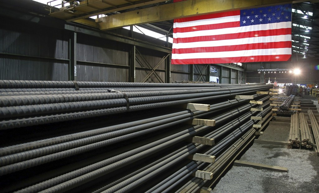 FILE - In this May 9, 2019, photo, steel rods produced at the Gerdau Ameristeel mill in St. Paul, Minn. await shipment. Japan hopes it can reach an ag