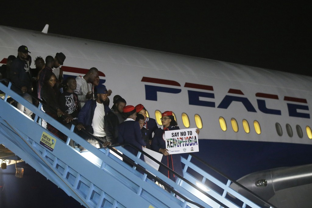 Image result for air peace returns nigerians from sa